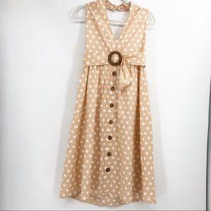 ASOS Polka Dot Halter Dress 6 NWT